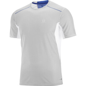 Salomon Trail Runner Løbe T-shirt Herrer blå/hvid